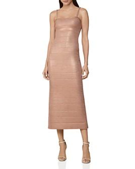 Hervé Léger - Banded Crystal-Embellished Midi Dress