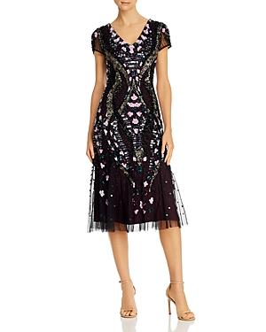 Vintage 1920s Dresses – Where to Buy Adrianna Papell Embellished Midi Dress AUD 462.05 AT vintagedancer.com