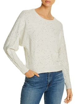 Design History - Sequined Dolman-Sleeve Sweater