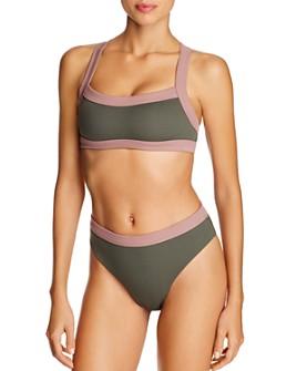 Dolce Vita - Banded Racerback Bikini Top & High-Leg Bikini Bottom