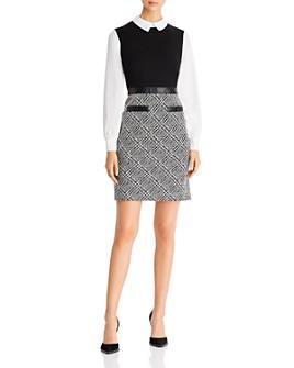 KARL LAGERFELD PARIS - Layered-Look Jumper Dress