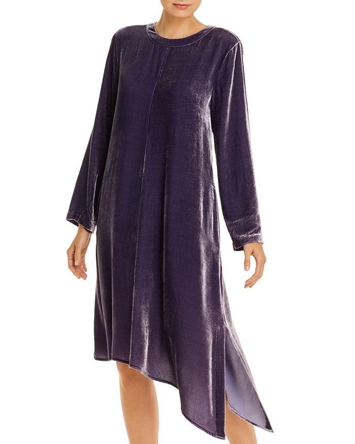 Eileen Fisher - Velvet Asymmetric-Hem Dress