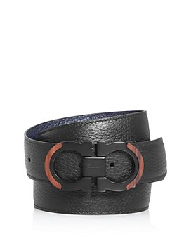 Salvatore Ferragamo - Men's Gancini Reversible Wood Detail Belt
