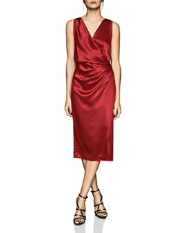 REISS - Lucine Draped Cocktail Dress
