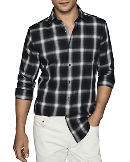 REISS - Ringo Windowpane Regular Fit Button-Down Shirt