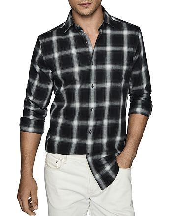 REISS - Ringo Windowpane Regular Fit Button-Down Shirt