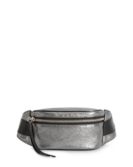 ALLSAINTS - Miki Metallic Leather Belt Bag