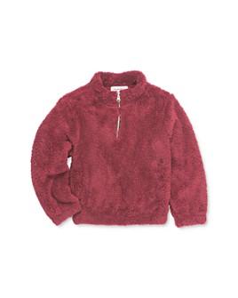 Sovereign Code - Girls' Mae Quarter-Zip Sherpa Sweatshirt - Little Kid, Big Kid