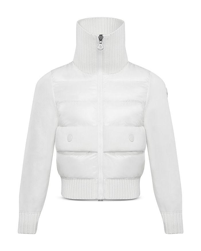 Moncler - Girls' Mixed-Media Puffer Jacket - Big Kid