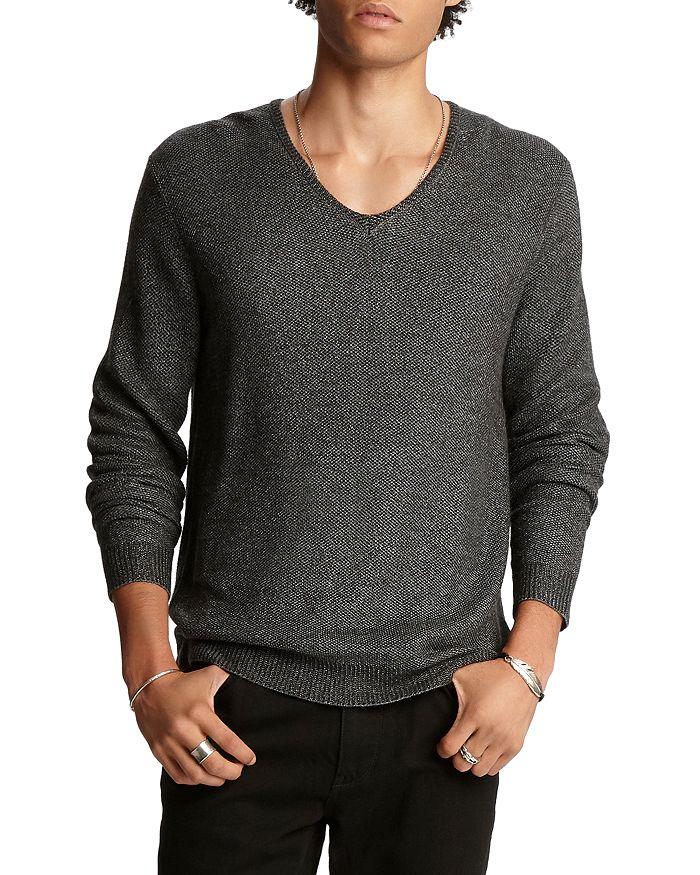 John Varvatos Collection - Wool Regular Fit V-Neck Sweater
