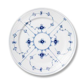 "Royal Copenhagen - ""Blue Fluted Plain"" Salad Plate, 7.5"""