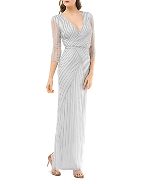 Vintage 1920s Dresses – Where to Buy Js Collections Beaded Faux-Wrap Dress AUD 568.68 AT vintagedancer.com