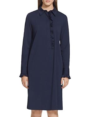 Lafayette 148 New York Fiona Ruffle Detail Shift Dress-Women