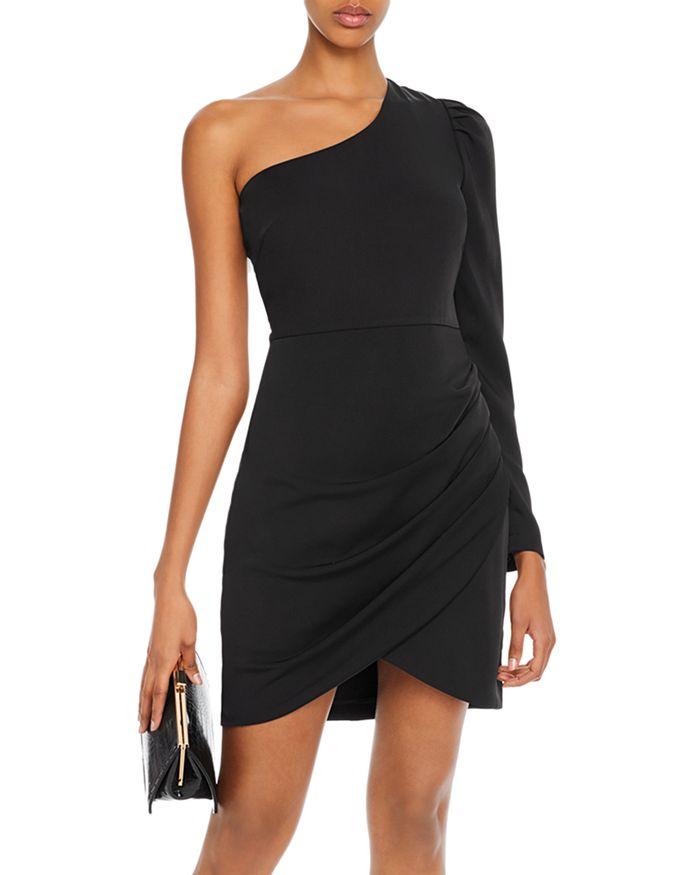 AQUA - One-Shoulder Puff-Sleeve Dress - 100% Exclusive