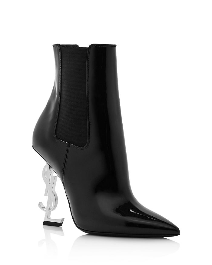 Saint Laurent Women's Ysl Booties In Nero