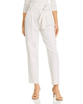 MOTHER - The Greaser Paperbag-Waist Wide-Leg Jeans in Chalk