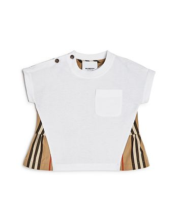 Burberry - Girl's Mini Delilah Icon-Stripe Peplum Shirt - Baby