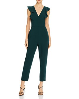 FRENCH CONNECTION - Ruffled V-Neck Jumpsuit