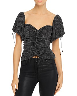 For Love & Lemons - Ava Ruched Glitter Top