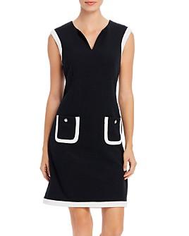 KARL LAGERFELD PARIS - Two-Tone Pocket Dress