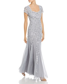 Adrianna Papell - Embellished Godet Gown