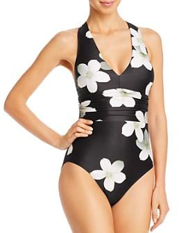 Ralph Lauren - Villa Floral Twist Back Halter One Piece Swimsuit