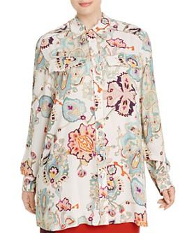 Marina Rinaldi - Fuso Abstract Floral-Print Shirt