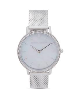 Rebecca Minkoff - Major Pavé Detail Mesh Bracelet Watch, 35mm