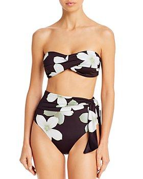 Lauren - Villa Floral Bandeau Bikini Top & Villa Floral High-Waist Bikini Bottom