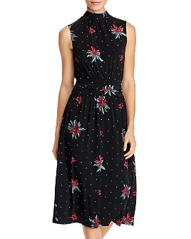 Leota - Aria Sleeveless Printed Mock-Neck Dress