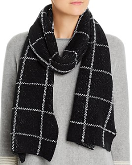 Eileen Fisher - Organic Cotton Windowpane-Check Scarf
