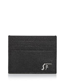 Salvatore Ferragamo - Signature Pebbled Leather Card Case