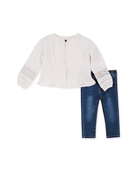 7 For All Mankind - Girls' Peasant Blouse & Jeans Set - Baby
