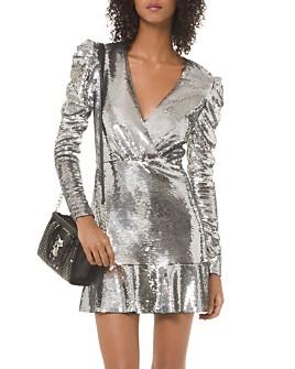 MICHAEL Michael Kors - Sequined Puff-Sleeve Mini Dress