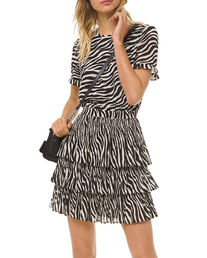 MICHAEL Michael Kors - Bengal Tiger Tiered Mini Dress
