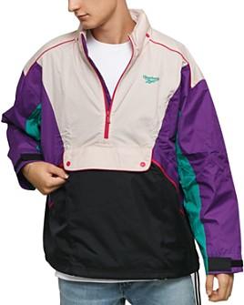 Reebok - Color-Block Half-Zip Trail Jacket