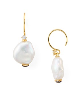 Nadri - Liv Cultured Keshi Pearl Drop Earrings