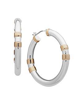 Ralph Lauren - Two-Tone Medium Hoop Earrings
