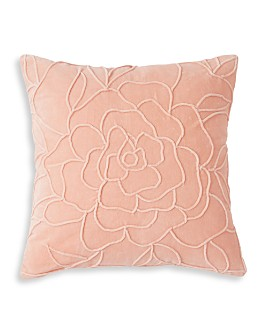 "Peri Home - Velvet Floral Decorative Pillow, 18"" x 18"""