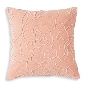 Peri Home Velvet Floral Decorative Pillow, 18 x 18