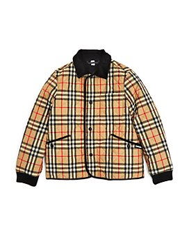 Burberry - Boys' Culford Vintage Check Diamond Quilted Jacket - Little Kid, Big Kid