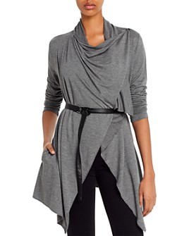 Marc New York - Belted Drape-Front Cardigan