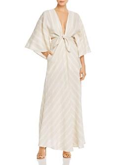 Significant Other - Phoenix V-Neck Tonal-Stripe Maxi Dress