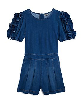 Habitual Kids - Girls' Maeve Ruffle-Sleeve Romper - Little Kid, Big Kid