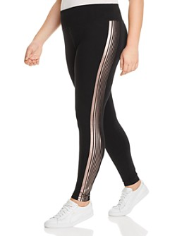 Marc New York Plus - Metallic Foil-Stripe Leggings