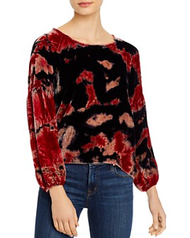Nation LTD - Marielle Tie-Dye Velvet Top