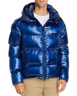 Champion Reverse Weave - Melange Hooded Puffer Jacket
