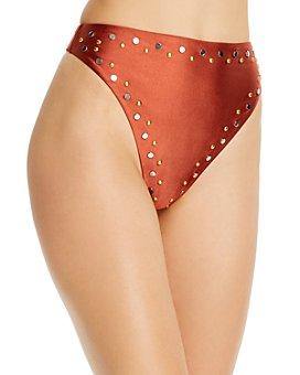 Dolce Vita - Studded High-Waist Bikini Bottom