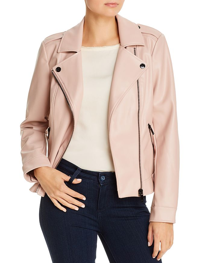 Karl Lagerfeld FAUX LEATHER MOTO JACKET