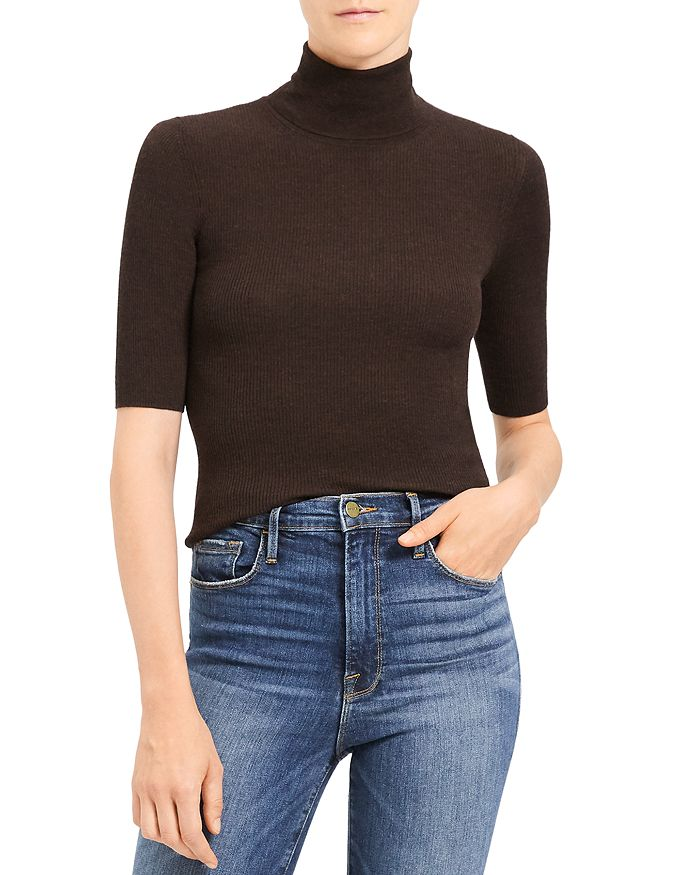 Theory LEENDA REGAL WOOL TURTLENECK TOP